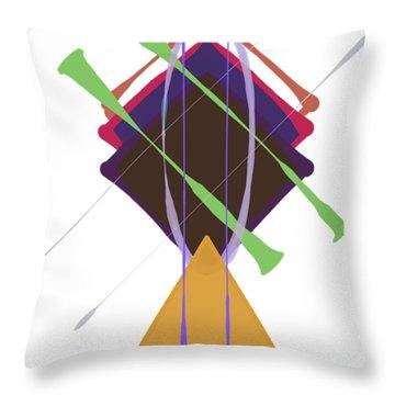 Improvised Geometry #3 Throw Pillow