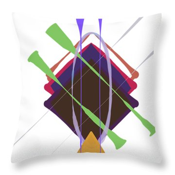Throw Pillow featuring the digital art Improvised Geometry #3 by Bee-Bee Deigner