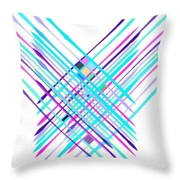 Improvised Geometry #2 Throw Pillow