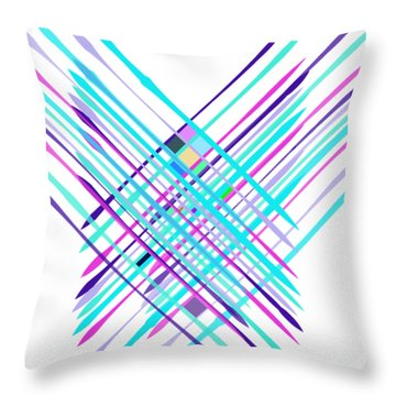 Throw Pillow featuring the digital art Improvised Geometry #2 by Bee-Bee Deigner