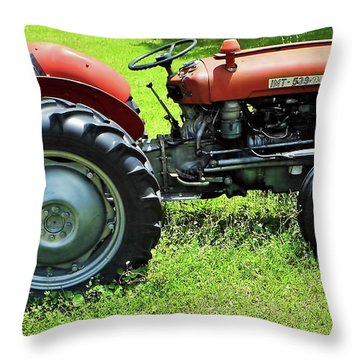 Imt 539 Tractor Throw Pillow