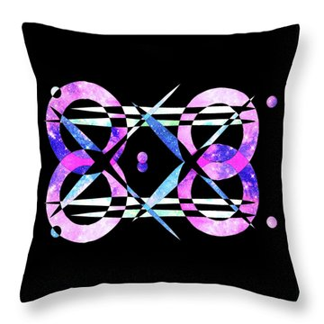 Throw Pillow featuring the digital art I Took A Retrofuturistic Journey In Space In 1920 by Bee-Bee Deigner