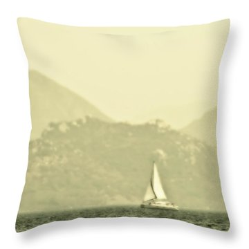 In A Distance Throw Pillow by Svetlana Sewell