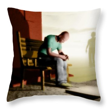 In A Fog Of Isolation Throw Pillow