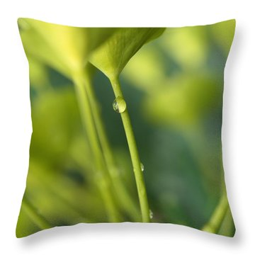 Throw Pillow featuring the photograph In A Forest Of Spurge  by Connie Handscomb