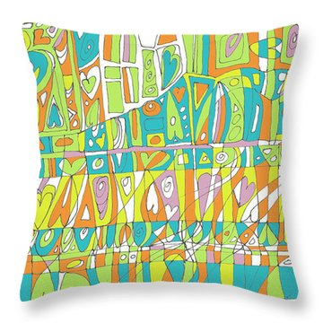 In A Heartbeat Throw Pillow by Linda Kay Thomas
