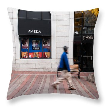 In A Hurry Throw Pillow by Monte Stevens