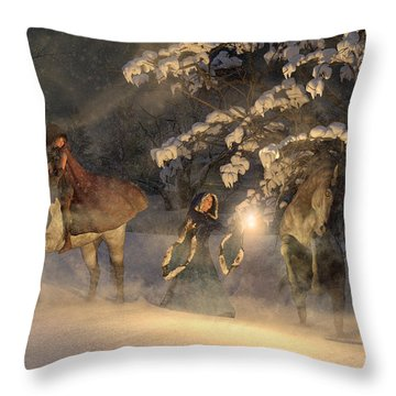 In A Land Far Far Away Throw Pillow
