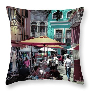In A Little Spanish Town Throw Pillow