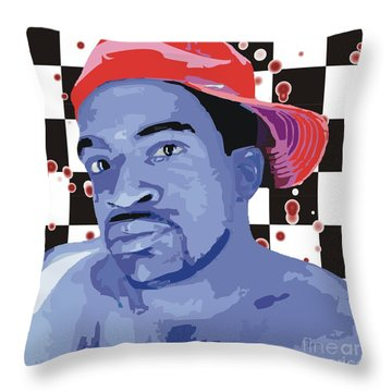 In A Red Cap Throw Pillow