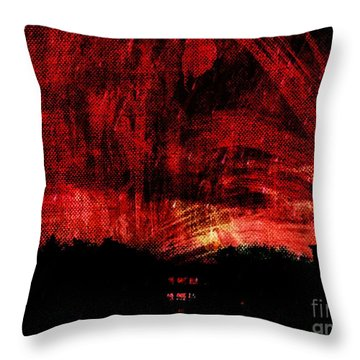 In A Red World Throw Pillow