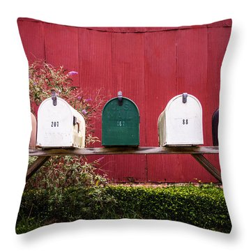In A Row Throw Pillow by Parker Cunningham