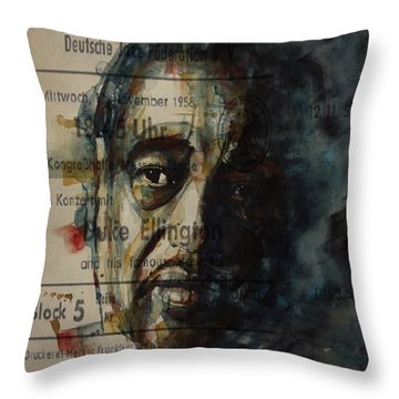In A Sentimental Mood Duke Ellington Throw Pillow by Paul Lovering
