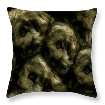 Throw Pillow featuring the digital art In A Swedish Troll Forest by Gun Legler