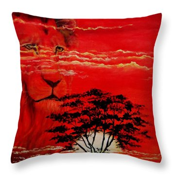 In An Arfican Sunset Throw Pillow by Ruanna Sion Shadd a'Dann'l Yoder