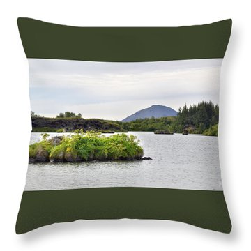 Throw Pillow featuring the photograph In An Iceland Lake by Joe Bonita