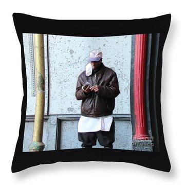 Throw Pillow featuring the photograph In Between by Joe Jake Pratt