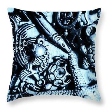 In Blue Nautilus  Throw Pillow