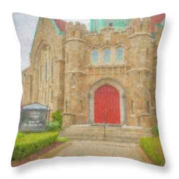 In Brockton For Good Throw Pillow