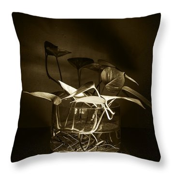 In Brown Light Throw Pillow by Rajiv Chopra