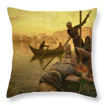 In Cairo Throw Pillow by Joseph Farquharson