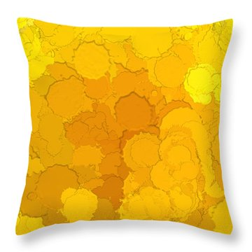 In Color Abstract 14 Throw Pillow