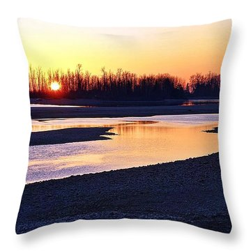 The Fraser River Throw Pillow
