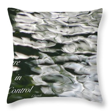 In Control Throw Pillow by David Norman