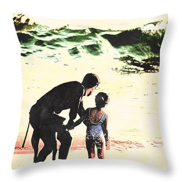 In Daddy's Arms Throw Pillow