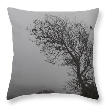 In Days Of Silence Throw Pillow