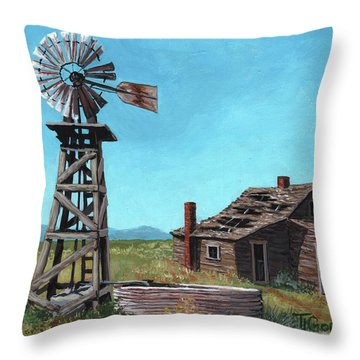 In Days Past Throw Pillow