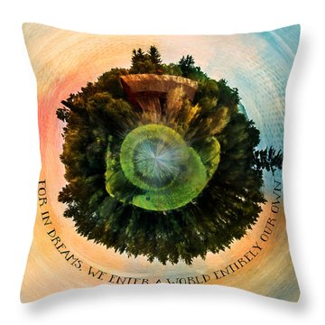 In Dreams A World Entirely Our Own Orb Throw Pillow
