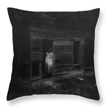 In Fear She Waits Throw Pillow