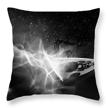 Throw Pillow featuring the photograph In Flames by Nik West