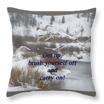 In Flight Carry On Throw Pillow by DeeLon Merritt