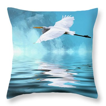 In Flight Throw Pillow by Cyndy Doty