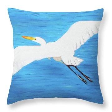In Flight Entertainment Throw Pillow