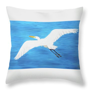 In Flight Entertainment Throw Pillow