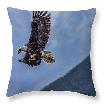 Throw Pillow featuring the photograph In Flight Lunch by Timothy Latta