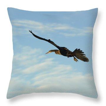 In Flight Throw Pillow by Marty Koch