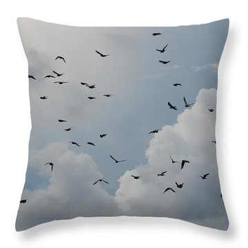 Throw Pillow featuring the photograph In Flight by Rob Hans