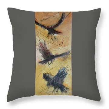In Flight Throw Pillow by Ron Stephens