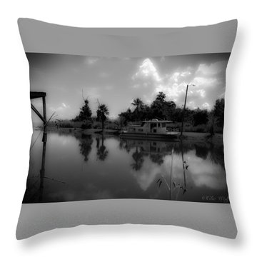 In Florida, A Boat Throw Pillow