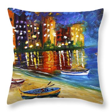 In For The Night Throw Pillow