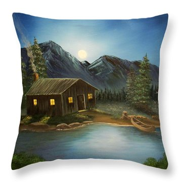 In For The Night Throw Pillow by Sheri Keith