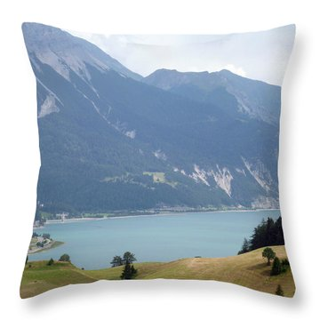 In Front Of The Lake Throw Pillow