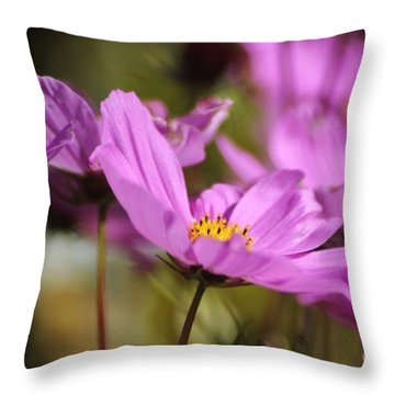 In Full Bloom Throw Pillow by Sheila Ping