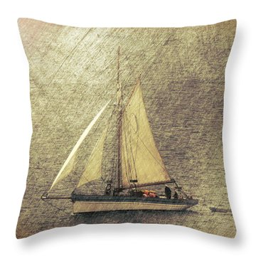 In Full Sail Throw Pillow