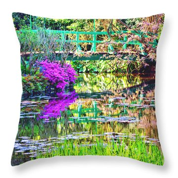 In Giverny Throw Pillow by Olivier Le Queinec