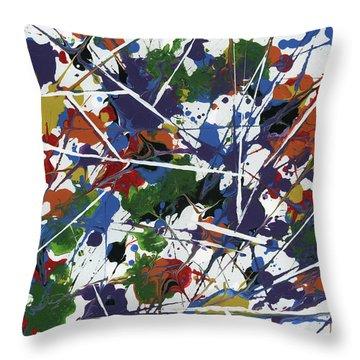 In Glittering Rainbow Shards Throw Pillow